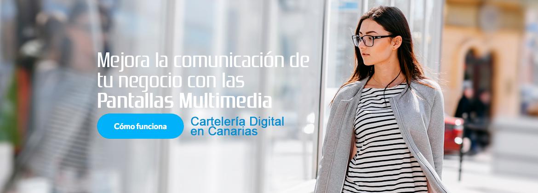 mejora la comunicacion de tu negocio con las pantallas multimedia digitales en Canarias cartelería digital